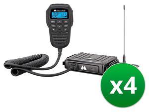 Midland MXT275 MicroMobile GMRS 2Way Radio (4-Pack) Two Way Radio