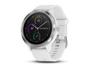 Garmin vivoactive 3 Multisport GPS Watch (White/Stainless Hardware)
