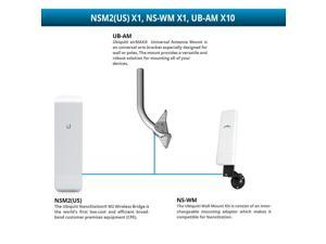 Ubiquiti NanoStation locoM5 IEEE 802.11n 150 Mbps Wireless Bridge UNII Band
