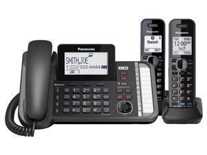 Panasonic KX-TG9581B Plus (1) KX-TGA950B 2 Handset Cordless Phone