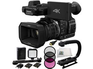 Panasonic HC-X1000 4K-60p/50p Camcorder with High-Powered 20x Optical Zoom and Professional Functions (Black) + 3 Piece Filter Kit (UV+CPL+FLD) + 36 PIN LED Video Light + 5 Foot HDMI Cable + More!