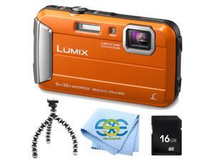 Panasonic Lumix DMC-TS30 Tough Digital Camera with rugged gripster tripod, 16GB SD memory card and exclusive SSE cleaning cloth