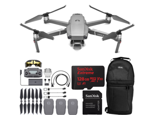 "DJI Mavic 2 Pro Drone Quadcopter with Hasselblad Camera HDR Video UAV Adjustable Aperture 20MP 1"" CMOS Sensor with 3x Batteries, SanDisk Extreme 128GB MicroSDXC UHS-I U3 V30 and Molded Carrying Case B"