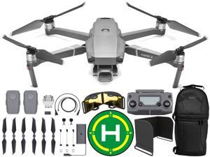 "DJI Mavic 2 Pro Drone Quadcopter with Hasselblad Camera Adjustable Aperture 20MP 1"" CMOS Sensor with Sling Backpack, Range Extender, Landing Pad, and Sunshade Essentials Bundle"