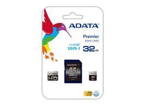 ADATA 32GB Premier SDHC Class 10 UHS-1 30MB/S Memory Card. Model ASDH32GUICL10-R