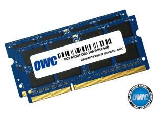 "OWC 8GB (2x4GB) PC3-8500 DDR3 1066MHz SODIMM 204 Pin Memory Upgrade Kit for all MacBook Pro 2008/2009/2010 Unibody, all MacBook 13"" Unibody, Mac mini 2009 & Later, iMac 2009 Model OWC8566DDR3S8GP"