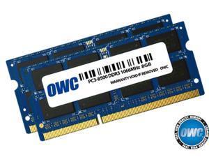 "OWC 16.0GB (2x 8GB) DDR3 PC3-8500 1066MHz Memory Upgrade Kit For Mac mini 2010, MacBook 2010, & MacBook Pro 13"" 2010 Models. Model OWC8566DDR3S16P"