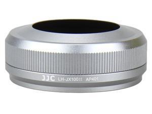 JJC Premium Silver Lens Hood LH-JX100II Replacement for Fuji FinePix X100, X100S Model LH-JX100II-SLV