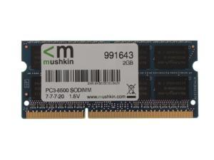 Mushkin Enhanced 2GB DDR3 PC3-8500 1066MHz 204-Pin Laptop Memory Model 991643