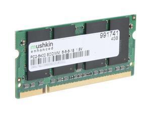 Mushkin Enhanced 4GB DDR2 PC2-6400 800MHz 200-Pin  Laptop Memory Model 991741