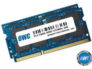 """OWC 4GB ( 2x2GB ) PC3-10600 DDR3 1333MHz SODIMM 204 Pin Memory Upgrade Kit For early 2011 MacBook Pro models and Mid 2010 21.5"""" & 27"""" iMac Models, Mid 2011 Mac mini models Model OWC1333DDR3S04S"""