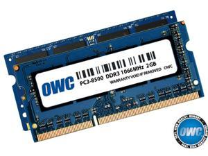 OWC 6GB ( 2+4GB ) PC3-8500 DDR3 1066MHz SODIMM 204 Pin Memory Upgrade Kit For Late 2008, Early 2009, Early 2010 MacBook, MacBook Pro Unibody Models,2009/2010 Mac mini,2009 iMac models.OWC8566DDR3S6GP