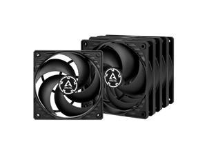 ARCTIC P12 PWM PST (Black/Black) Value Pack 5pack - Pressure-optimised 120 mm Fan with PWM and PST (PWM Sharing Technology)
