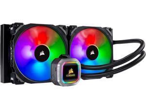 CORSAIR Hydro H115i RGB PLATINUM 280mm 2XML PRO 140mm RGB PWM Fans Advanced RGB Lighting & Fan Control w/Software Liquid CPU Cooler Intel 2066 AMD AM4, TR4