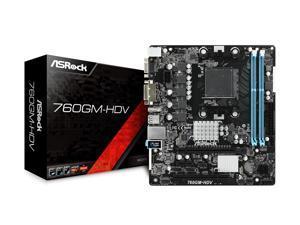 Asrock 760GM-HDV AMD 760G Micro ATX DDR3-SDRAM Motherboard