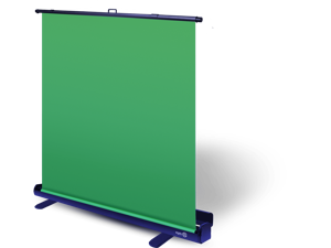 Corsair Green Screen Collapsible chroma key panel for background removal with auto-locking frame, wrinkle-resistant chroma-green fabric, aluminum hard case, ultra-quick setup and breakdown