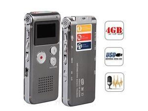 4GB Digital Voice Recorder Dictaphone MP3 Player Rechargeable