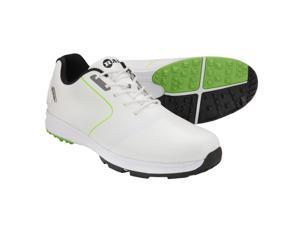 Ram Golf Player Mens Waterproof Golf Shoes - White / Green 10