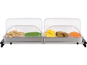 BroilKing NBS-5RT Professional Grand Buffet Server with Stainless Base and Rolltop Lids