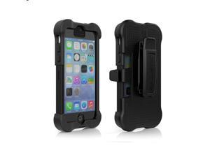 Ballistic SX1149-A065 Maxx Case with Holster Clip for Apple iPhone 5c - Retail Packaging - Black