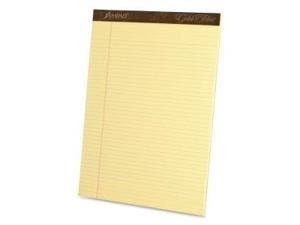 Ampad Gold Fibre Pads 8 1/2 x 11 3/4 Canary 50 Sheets Dozen 20022