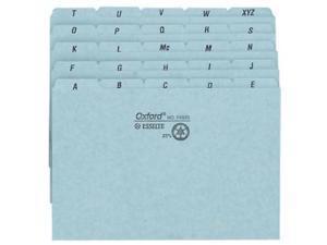 """TOPS Products Self-Tab Card Guides 25 Pt Pressbrd A-Z 6""""x4"""" 5Tab 6/ST Blue P4625"""