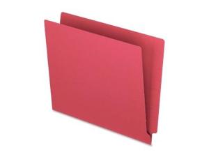 """End Tab File Folder 3/4"""" Exp. 11 pt. Letter 100/BX Red"""