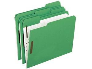 Pendaflex Colored Folders With Embossed Fasteners 1/3 Cut Letter Green/Grid