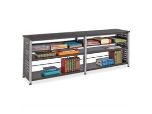 """Scoot Bookcase Credenza 72""""x15-1/2""""x25"""" Black"""