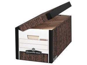 Bankers Box SYSTEMATIC Med-Duty Storage Boxes Letter 12-1/8 x 24 x 10 Woodgrain