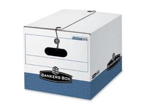 Bankers Box STOR/FILE Extra Strength Storage Box Letter/Legal White/Blue 12