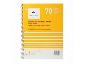 "Notebooks,1 Subject,10-1/2""x8"",College Ruled,70 Sht,AST"
