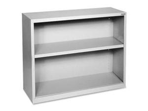 "Lorell Steel Bookcase 2-Shelf 34-1/2""x13""x30"" Light Gray 41280"