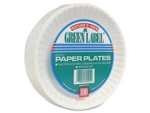 """Paper Plates, Green Label, 6"""" Plate, 1000/CT, White"""