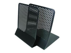 Artistic Urban Collection Punched Metal Bookends 6 1/2 x 6 1/2 x 5 1/2 Black