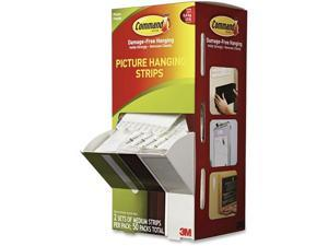 """Command Picture Hanging Strips 5/8"""" x 2 3/4"""" White 50/Carton 17201CABPK"""