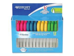 """Westcott Kids Scissors with Antimicrobial Protection 5"""" Pointed 12/Pack 14872"""