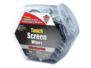 Falcon DMHJ Monitor Wipes Office Share Pack - Anti-static, Alcohol-free - 200 / Each - White
