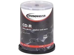 CD-R Discs, 700MB/80min, 52x, Spindle, Silver, 100/Pack 77990