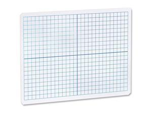 Flipside 11000 - Dual Sided Dry Erase Board With 1 CM XY Axis Grid - 9 X 12 - Case Of 24