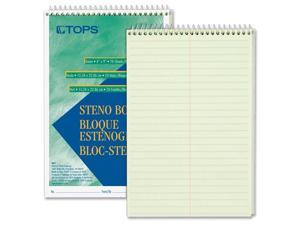 "Tops Steno Book Gregg Rule 70 Sheets/PD 6""x9"" GN Tint 8011"