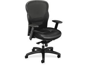 HON Company Wave Mesh High-Back Task Chair Supports up to 250 lbs. Black Seat/Black Back Black Base HVL701SB11
