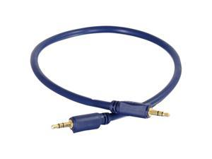 C2G 40603 Velocity 3.5mm M/M Stereo Audio Cable, Aux Cable, Blue (12 Feet, 3.65 Meters)