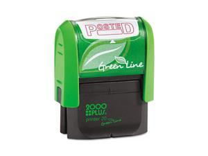 Cosco 035351 Red 1-1/2 x 9/16 2000 PLUS Green Line  Posted Message Stamp