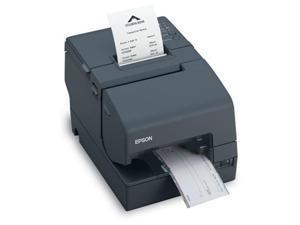 Epson TM-H2000 Dual-function Receipt Printer with Check Processing, MICR + Endorsement, USB, Serial, Auto Cutter, Dark Gray - C31CB26902