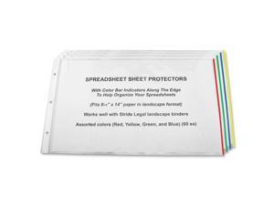 "Stride Semi-clear Sheet Protectors 20 Sheet Capacity - Legal 8.50"" x 14"" - 3 x Holes - Polypropylene - 15 / Box - Clear"