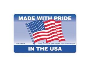 LabelMaster PD100 Warehouse Self-Adhesive Label, 5 1/4 X 3, Made With Pride In The Usa, 500/Roll