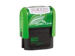 2000 PLUS Green Line 035350 1 1/2 x 9/16 Red 2000 Plus Green Line Paid Message Stamp