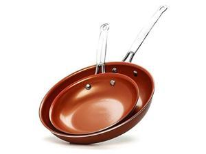 Brentwood BFP-2810C Induction Copper Fry Pan Set