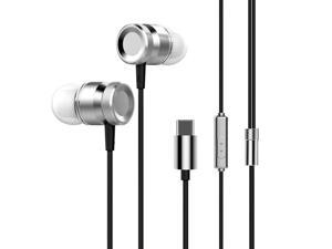 USB Type-C In-Ear Wired Metal Earphone Headset USB-C Earphone Earbuds In-line Control w/ Mic for Xiaomi 6 Note 3 MIX 2 Letv LeEco Le 2 3 Smartisan Pro Pro 2 Gray